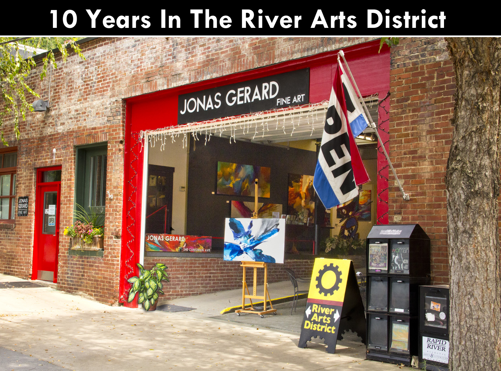 10th anniversary Jonas Gerard Fine Art in Asheville